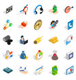 conference icons set isometric style vector image vector image