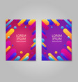 creative colorful cover design with geometric vector image