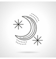 Crescent flat line design icon vector image vector image