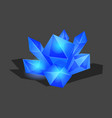 crystalline stone or gem and precious gemstone for vector image