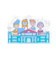 cute school children school activities back to vector image