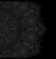 delicate white mandala pattern in boho style vector image vector image