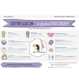 Depression is the problem Info graphic vector image vector image
