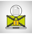 document security internet technology vector image vector image