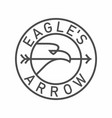 eagle hold arrow in beak emblem in circle vector image vector image