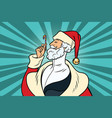 elegant santa claus and candy vector image vector image