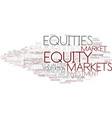 equities word cloud concept vector image vector image