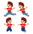 expression of boy cartoon collection for you desig vector image vector image