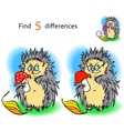 Find 3 differences hedgehog vector image vector image