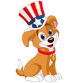 fourth july puppy vector image vector image