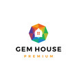 gem house jewelry shop logo icon vector image