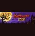 halloween night colorful horizontal banner vector image vector image