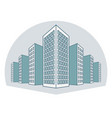 high buildings residential house tenement houses vector image