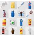 Home pest control expert exterminator service set vector image