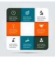Infographic design template and marketing icons vector image