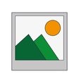 instant photo icon vector image