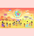 international day of african child on color poster vector image vector image