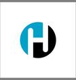 letter h circle logo icon design template vector image
