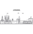 lithuania architecture line skyline vector image vector image