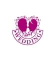 logo for wedding vector image vector image