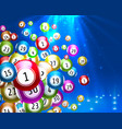 lottery game balls with numbers on a colored vector image vector image