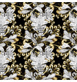 metal with floral pattern black white and beige vector image