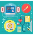 Modern Medicine and healthcare services flat vector image vector image