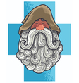 Monk Portrait vector image vector image
