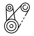motor timing belt icon outline style vector image