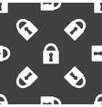 Padlock pattern vector image