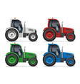 realistic tractors icons side view vector image vector image