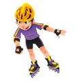 Rollerblade boy vector image vector image