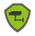 security shield with isolated icon design vector image vector image