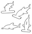 set of hammerhead shark vector image
