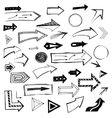 Set of handdrawn arrows on white background vector image vector image