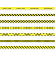 set police yellow tape danger zone with line vector image