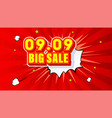 shopping day 0909 global big sale year vector image vector image