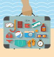 Summer infographics vector image