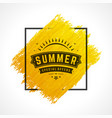 Summer sale banner online shopping on grunge brush vector image