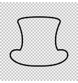 Top hat sign Line icon vector image vector image