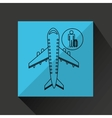 travel flying concept traveler baggage design vector image