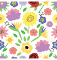 trendy floral pattern fabric design with simple vector image
