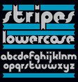 trendy modern lowercase alphabet letters vector image vector image