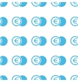 Unique Euro coin seamless pattern vector image vector image