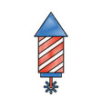 usa firework isolated icon vector image