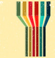 vintage background with colored stripes vector image vector image