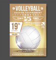 volleyball poster banner advertising sand vector image vector image
