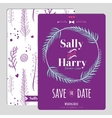 wedding romantic floral save date invitation vector image vector image
