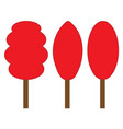 tree red sign set 406 vector image