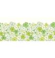 Clover line art horizontal seamless pattern vector image